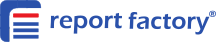 Report Factory blue logo with name