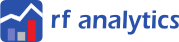 Report Factory Analytics blue logo with name